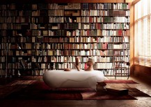 Foam-spa-in-the-bathroom-along-with-an-imposing-shelf-full-of-books-217x155