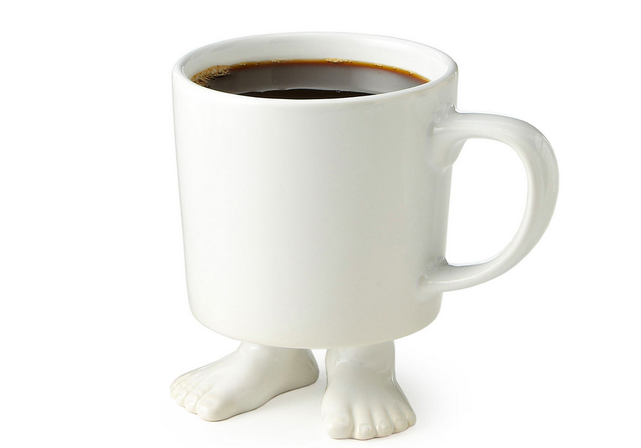 A whimsical footed mug from Dylan Kendall