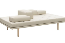 Fusion Sofa in White Leather  8 Dreamy Daybeds That Do Double Duty as Seating Fusion Sofa in White Leather 270x180