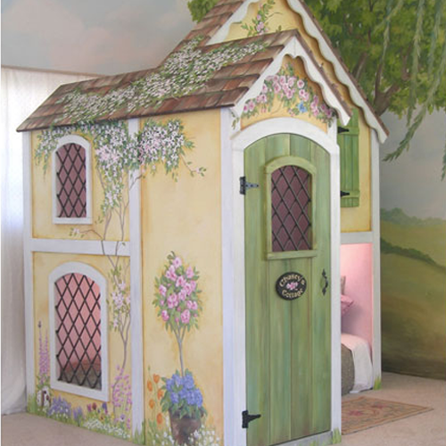 Gingerbread Cottage Child's Bed