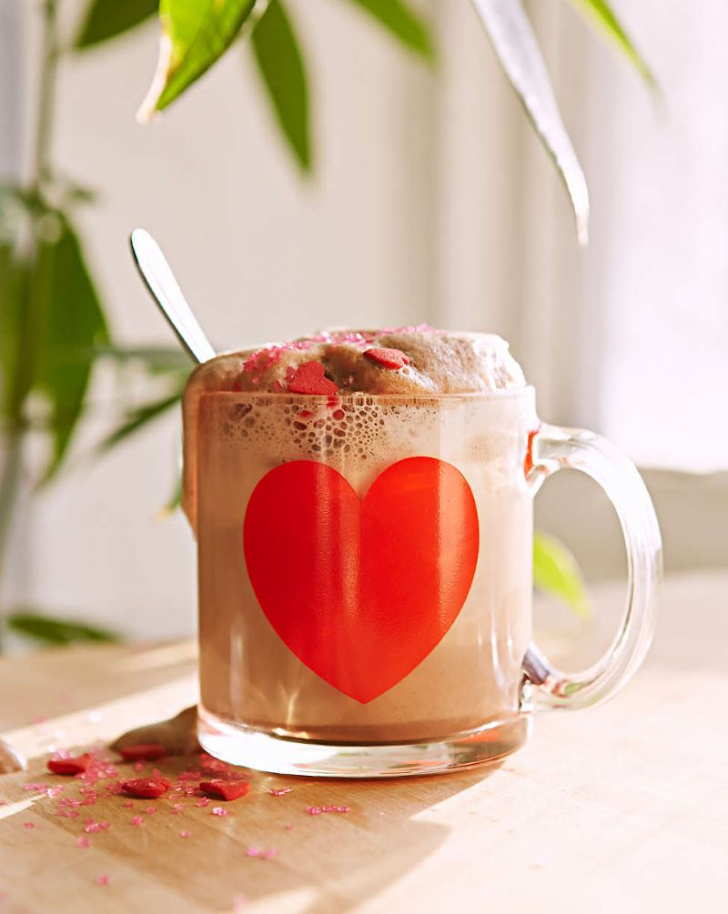 Glass heart mug from Urban Outfitters