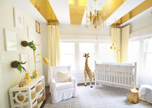 Gold Striped Ceilings