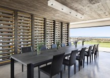 Gorgeous dining room with unabated ocean views