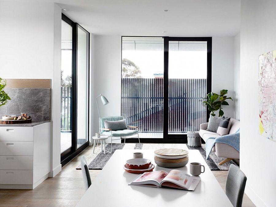 Chic Crisp Street Apartment In Melbourne By Min Design