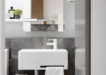 Gray adds a touch of refinement to the bathroom