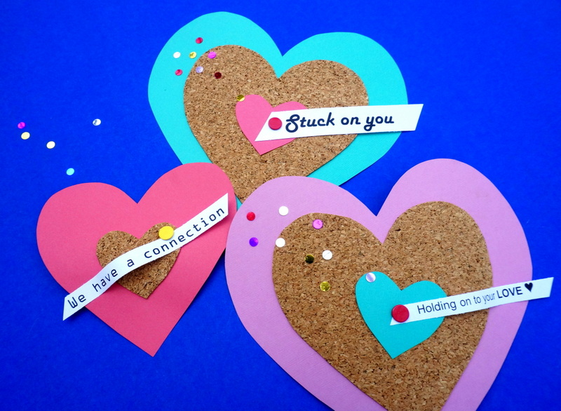 Heart valentine DIY project Colorful DIY Cork Valentines