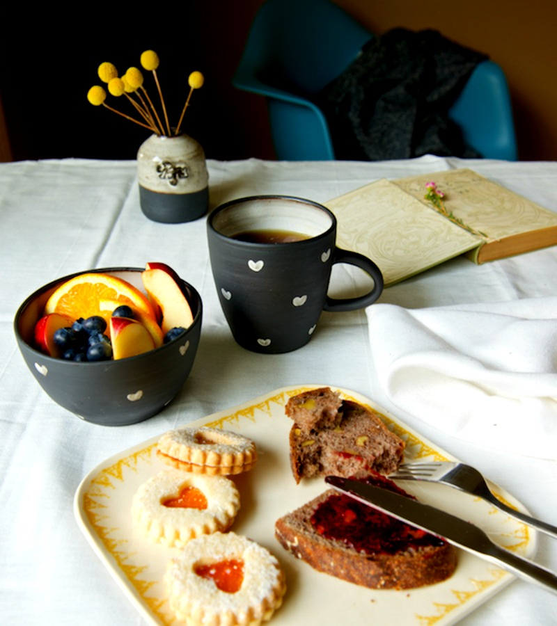 Hearts Stoneware Mug