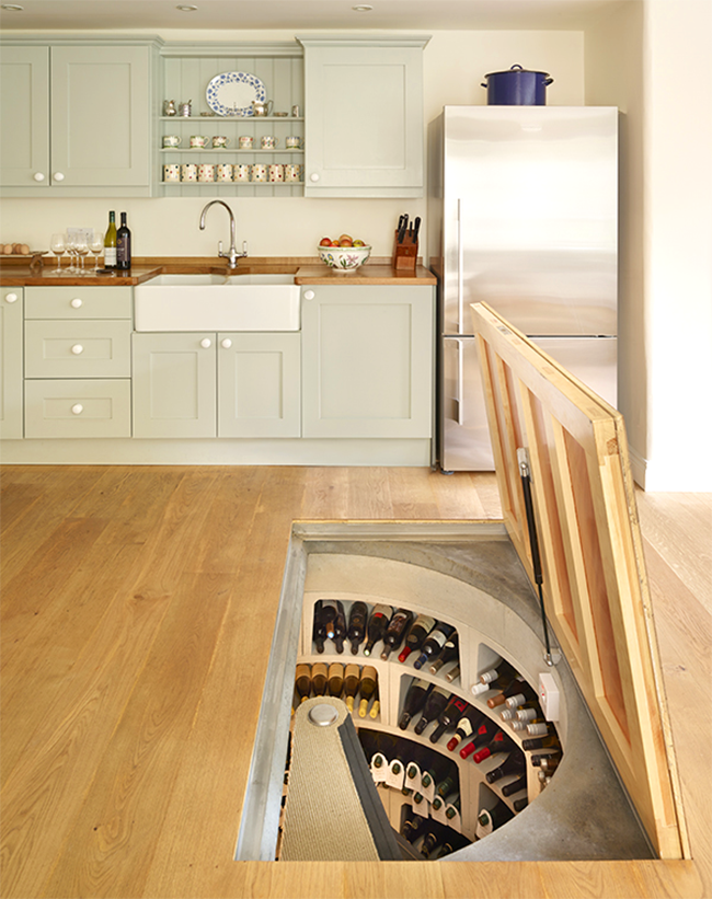 Hidden Spiral Wine Cellar
