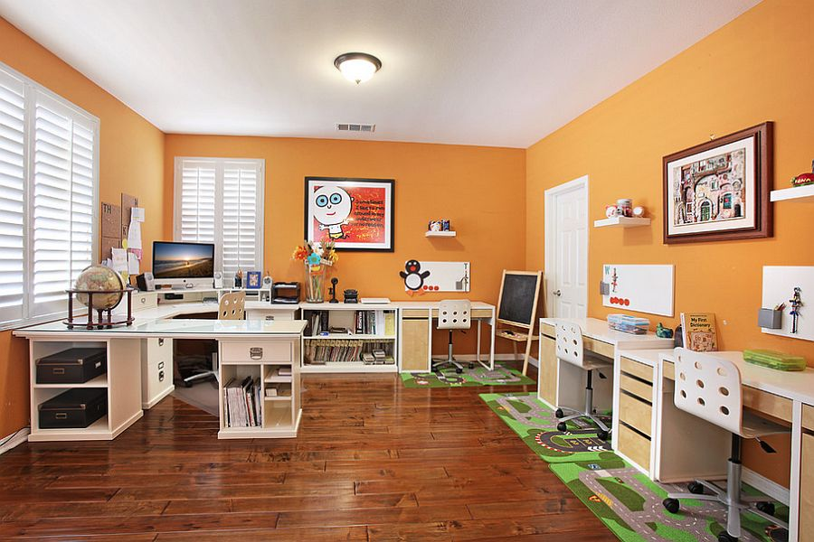 Home office and workspace for the entire family! [Design: Olive]