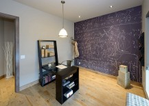 Home office chalkboard wall for the beautiful mind!