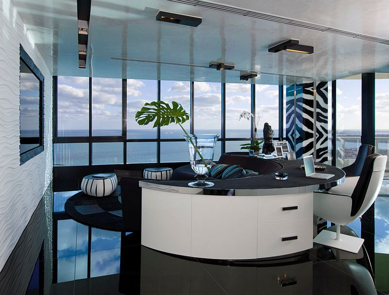 Home office that is a minimalist's paradise! [Design: Nieto Design Group]