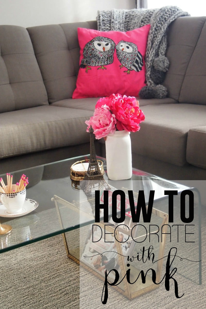 How to decorate with pink Decorate with Pink for Love Month!