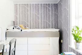 IKEA Hack Bed in Grey Room