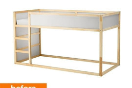 IKEA Kura Bed Before  8 Awesome Pieces of Bedroom Furniture You Won't Believe are IKEA Hacks IKEA Kura Bed Before 270x180