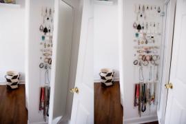 IKEA Mirror Jewelry Display