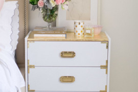 IKEA Rast Redone as a Gold Nightstand  8 Awesome Pieces of Bedroom Furniture You Won't Believe are IKEA Hacks IKEA Rast Redone as a Gold Nightstand 270x180