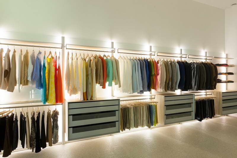 Illuminated Modern Closet on Wiring Led Strip Lights
