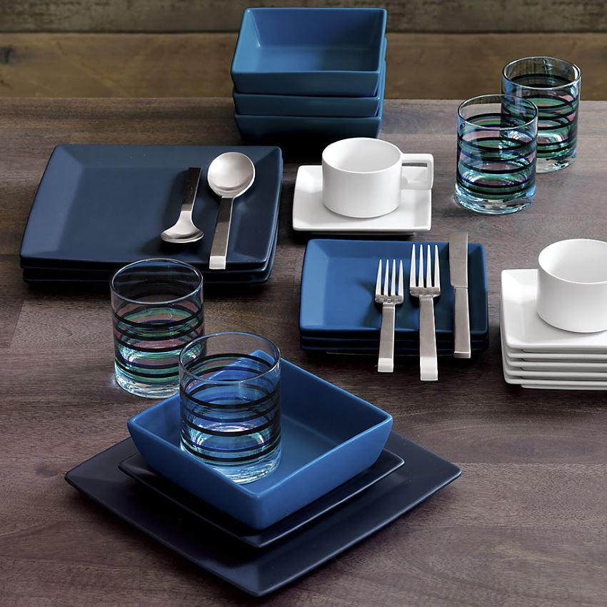 Indigo dinnerware from CB2