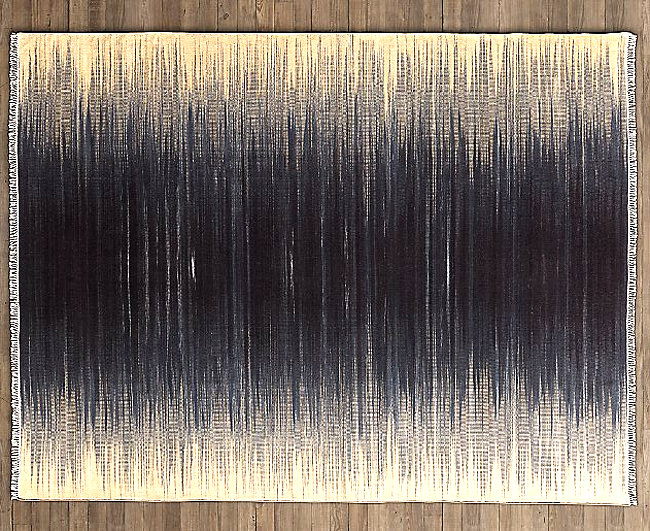 Indigo flatweave rug from Restoration Hardware