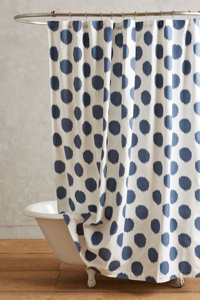 Indigo shower curtain from Anthropologie