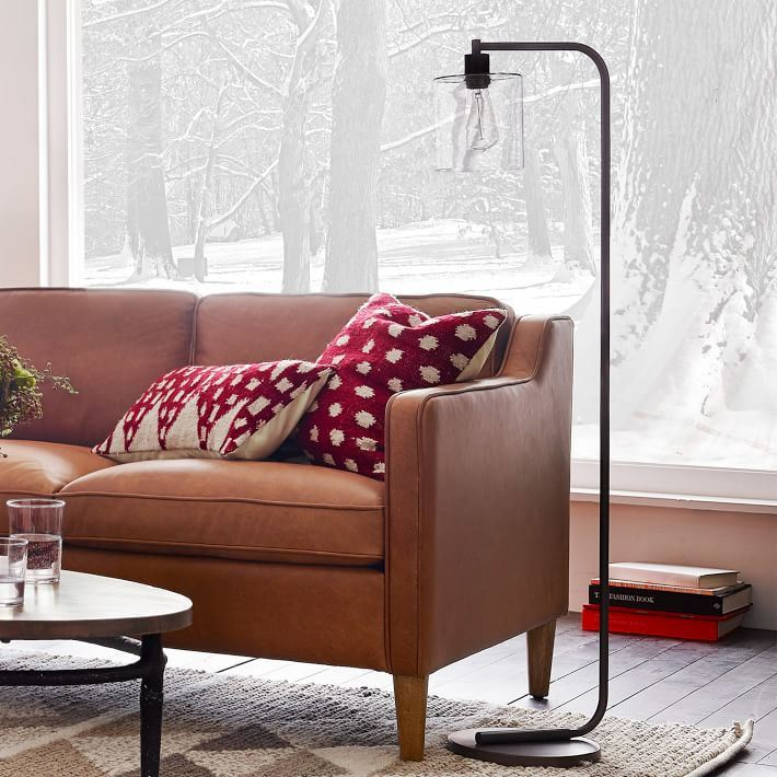 Industrial floor lamp from West Elm
