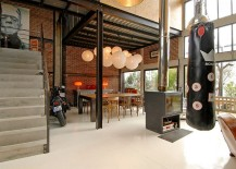 Industrial loft with a dashing dining room and decor!