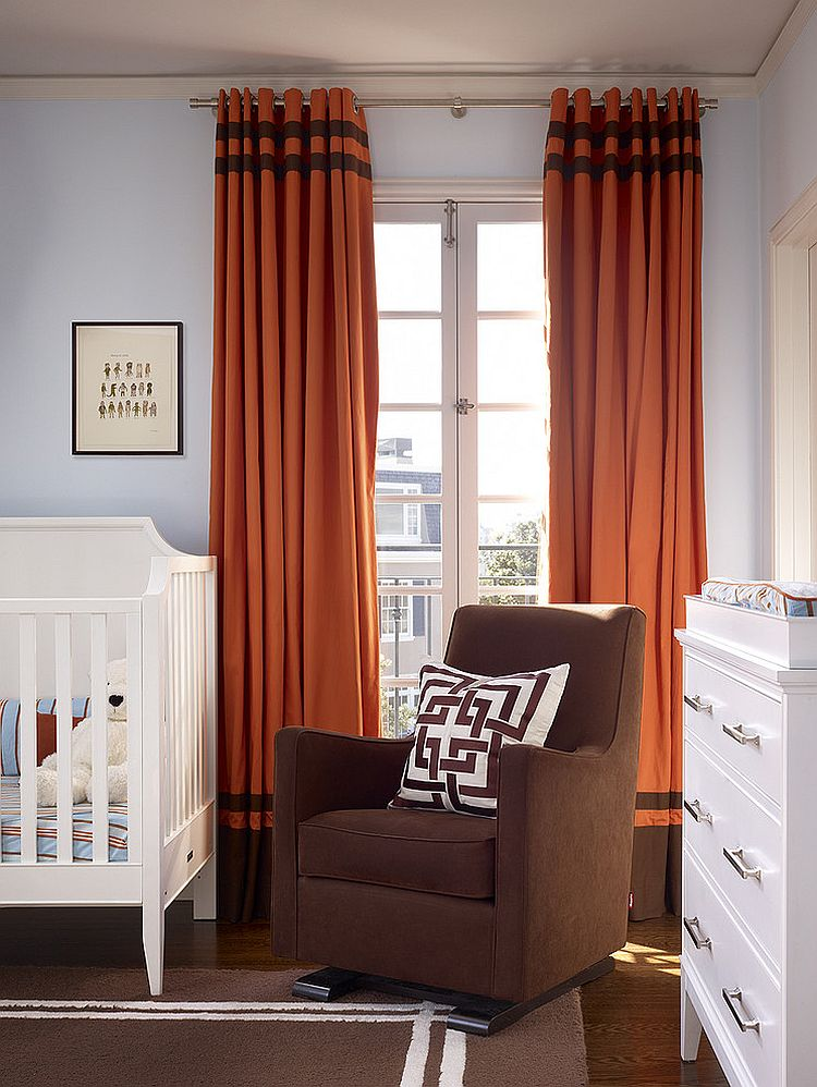 ... Infuse some color into the nursery with bold curtains [Design: Artistic Designs for Living : same-curtains-in-every-room - designwebi.com