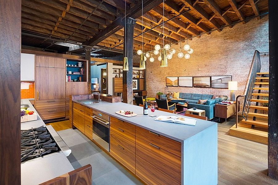 Old caviar warehouse converted into a sensational nyc loft for Meuble bricks montreal