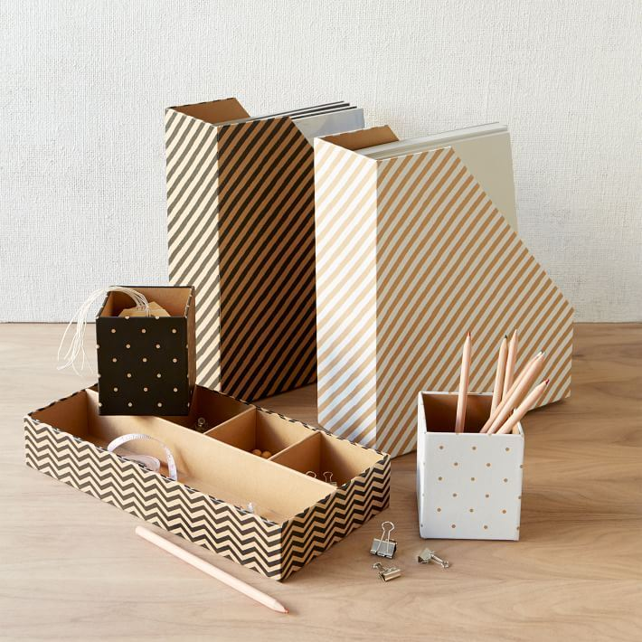 Kraft office accessories from West Elm