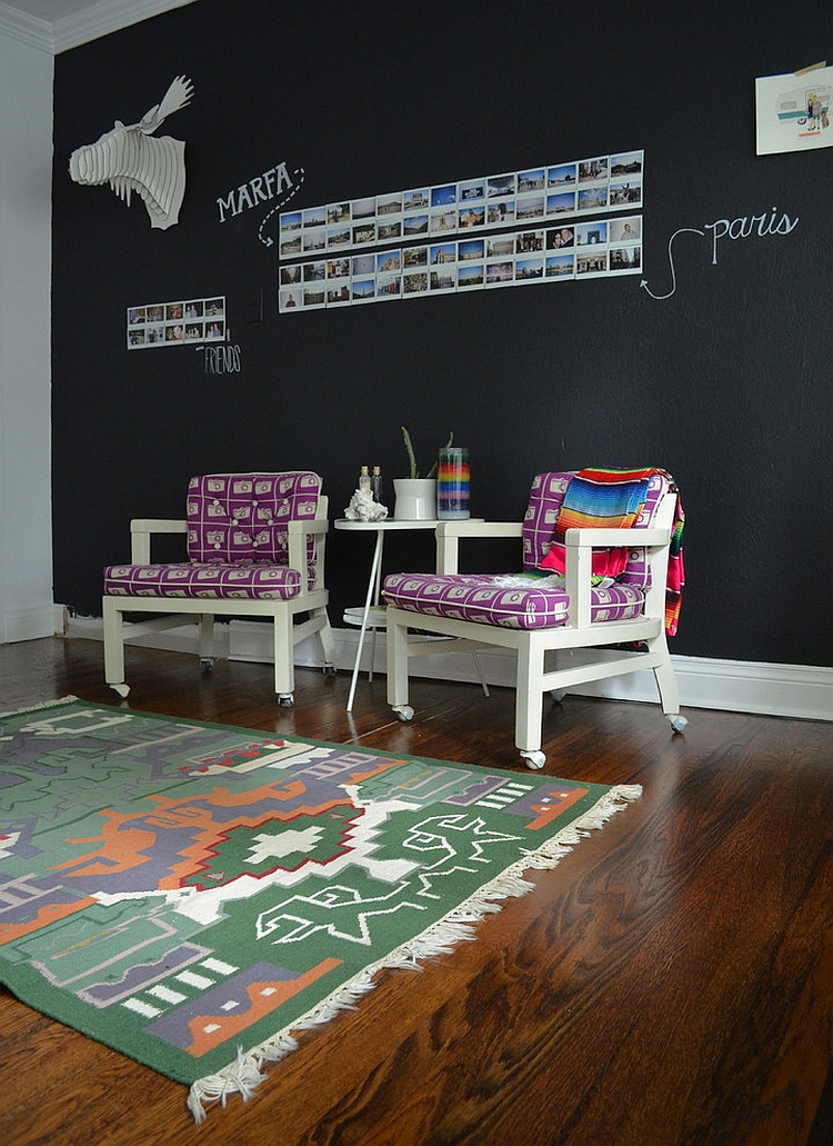 Let your imagination take wings with a Chalkboard wall [From: Sarah Greenman]