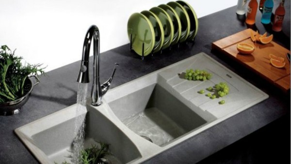 Light Grey Granite Sink