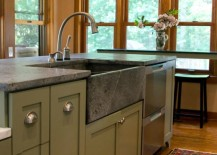 Light Grey Soapstone Sink 217x155 Get Stoned: 11 Incredible Kitchen Sinks Made from Rock