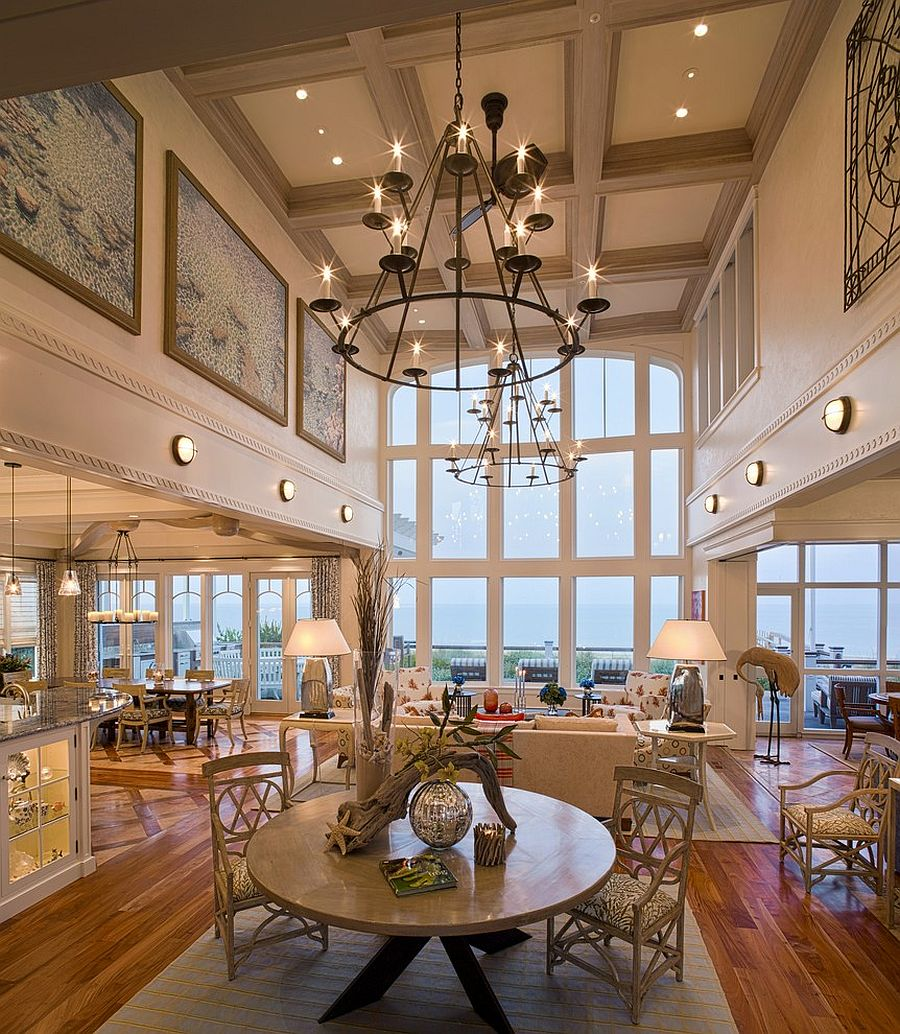 high ceiling lighting fixtures. View In Gallery Lighting Fixtures Bring Grandeur To The Space Design Bruce Palmer Interior High Ceiling N