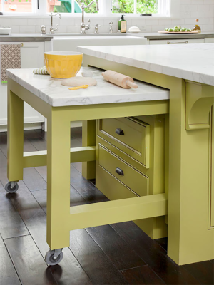Lime Green Slide Out Counter Space