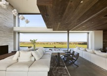 Living area brings together varied textures that will stand the coastal wear and tear