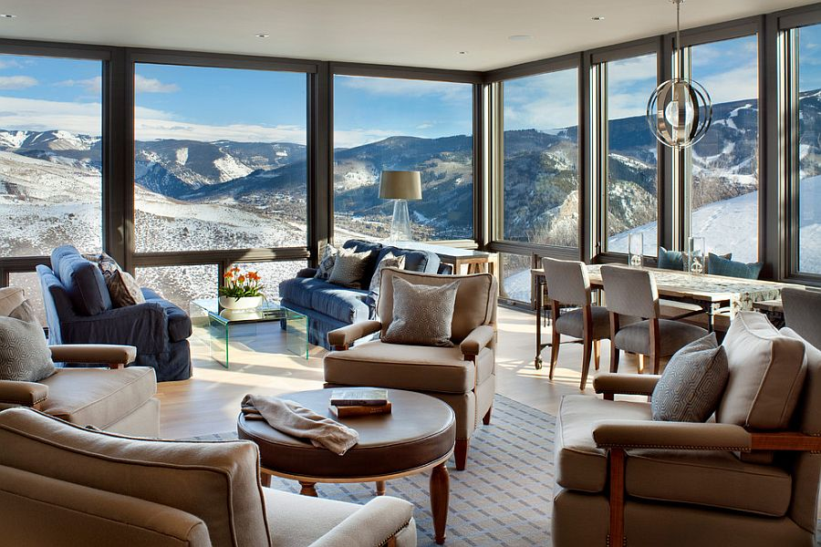 Living room with breathtaking views of the Colorado landscape