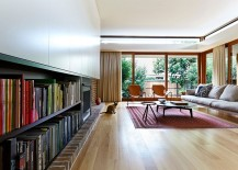 Lovely living room with a hint of midcentury flair 217x155 Single Family House in Sydney Charms with Midcentury Modern Flair
