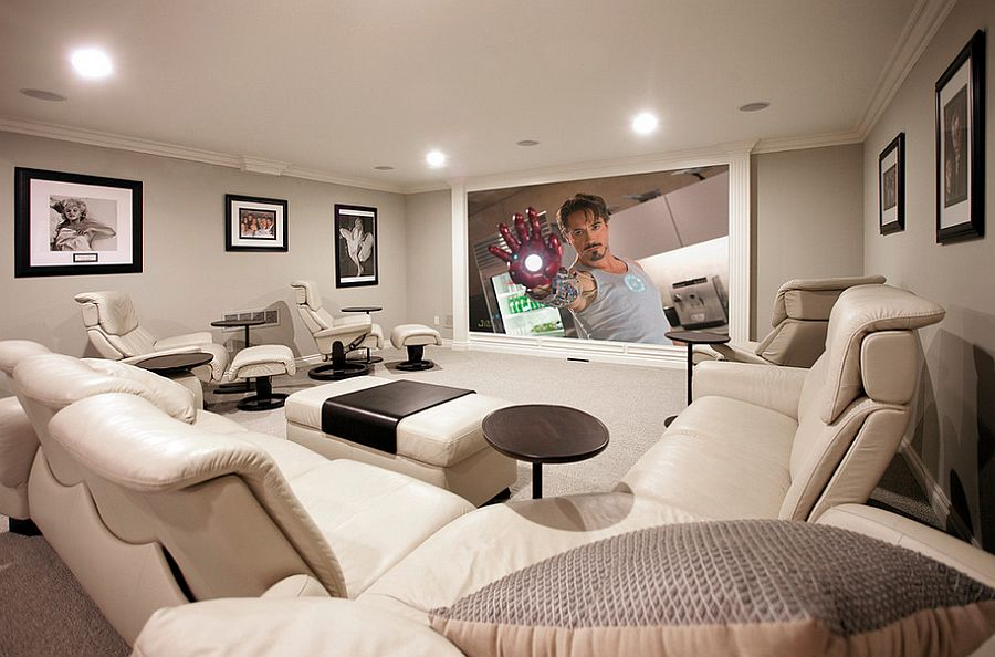 Charmant ... Home Theater. View In Gallery Make Complete Use Of The Limited Space On  Offer With The Right Decor [Design: