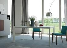 Minimal Sensai table with a sleek frame in white