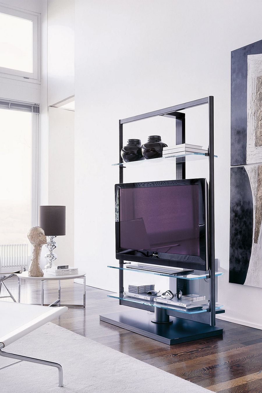 view in gallery modern tv stand that is both minimal and functional. contemporary tv stands that redefine the living room