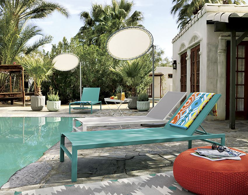 Modern chaise lounges from CB2