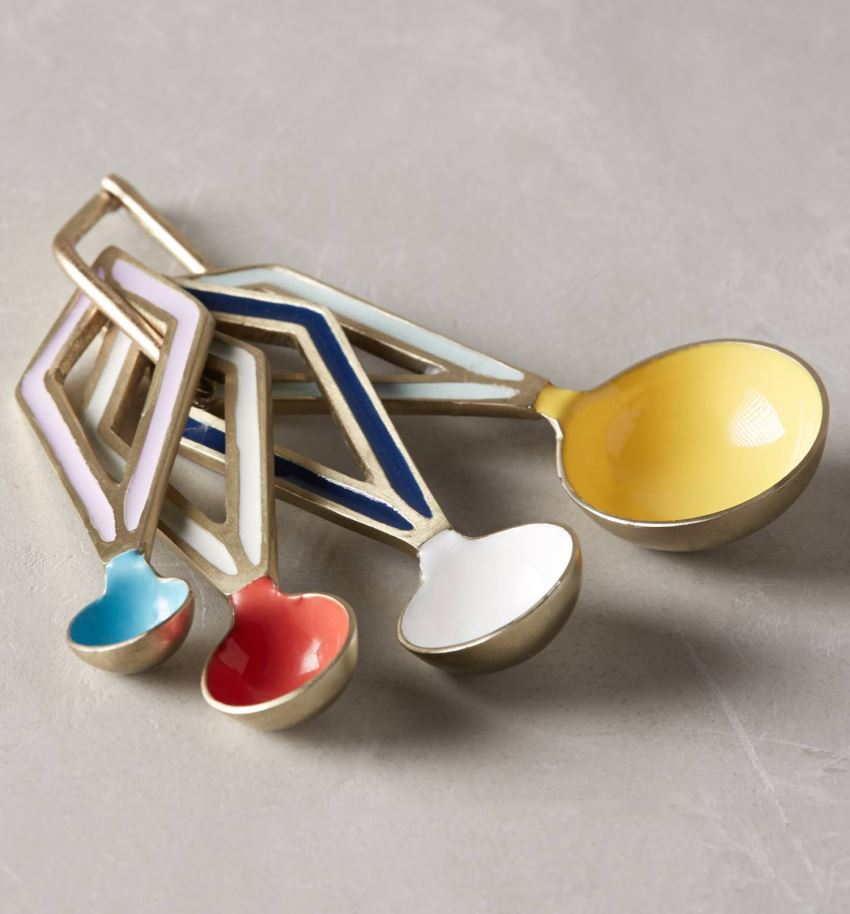Modern measuring spoons from Anthropologie