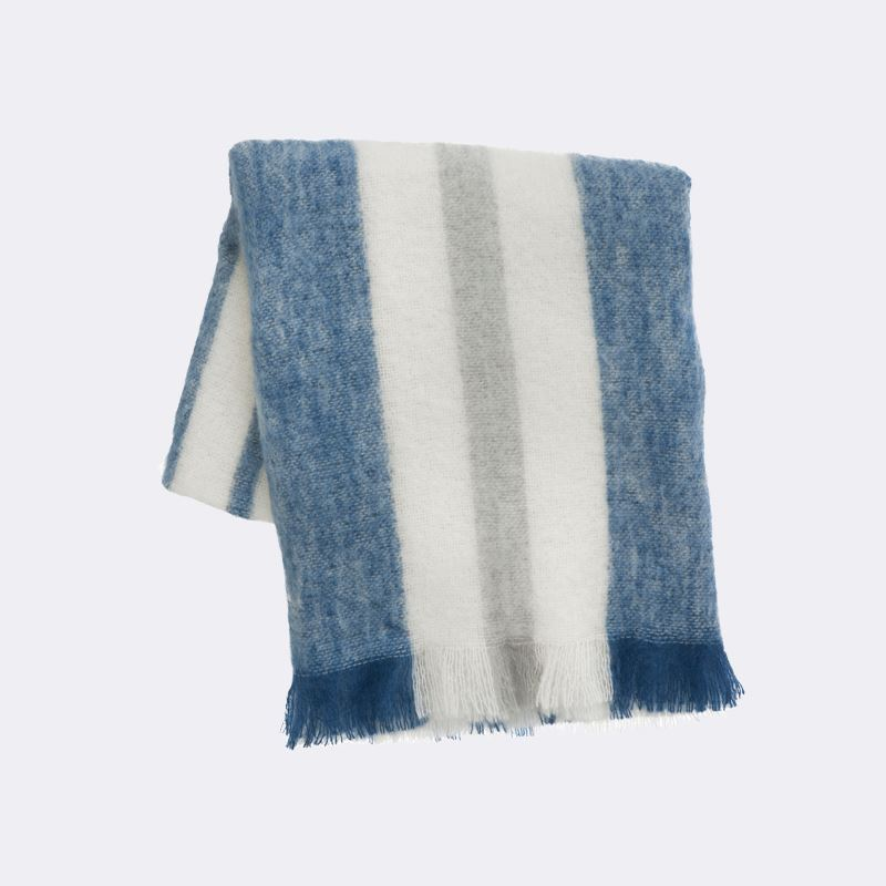Mohair throw from ferm LIVING The Indigo Color Trend for Spring
