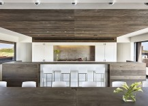 Natural wood brings elegance to the contemporary kitchen