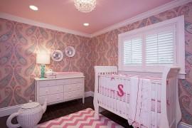 Nursery in pink with plenty of pattern