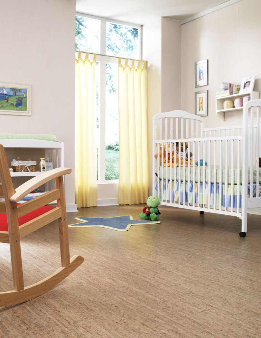 Nursery with cork flooring