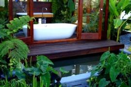 Outdoor Tub Bathroom  12 Creative Ways to Use Plants in The Bathroom Outdoor Tub Bathroom 270x180