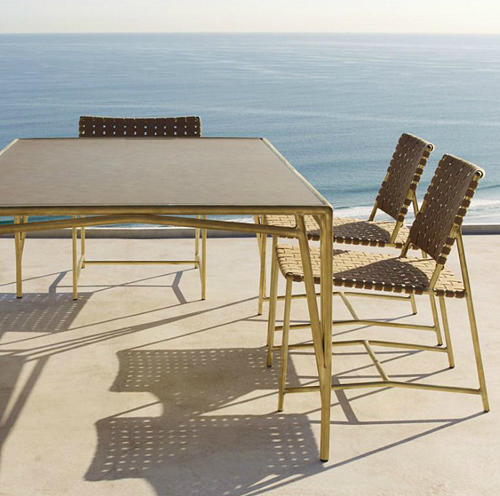 Outdoor dining seating from Restoration Hardware
