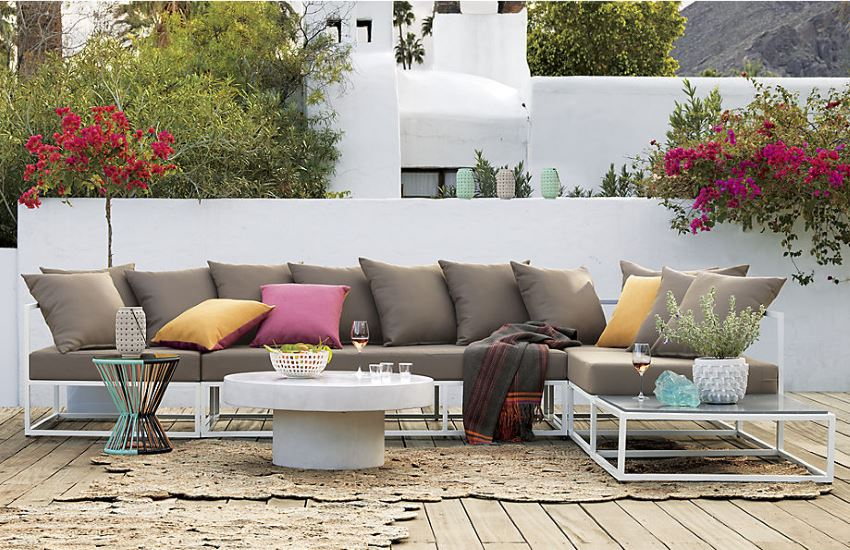 Outdoor lounge seating from CB2 Outdoor Seating Solutions for Spring