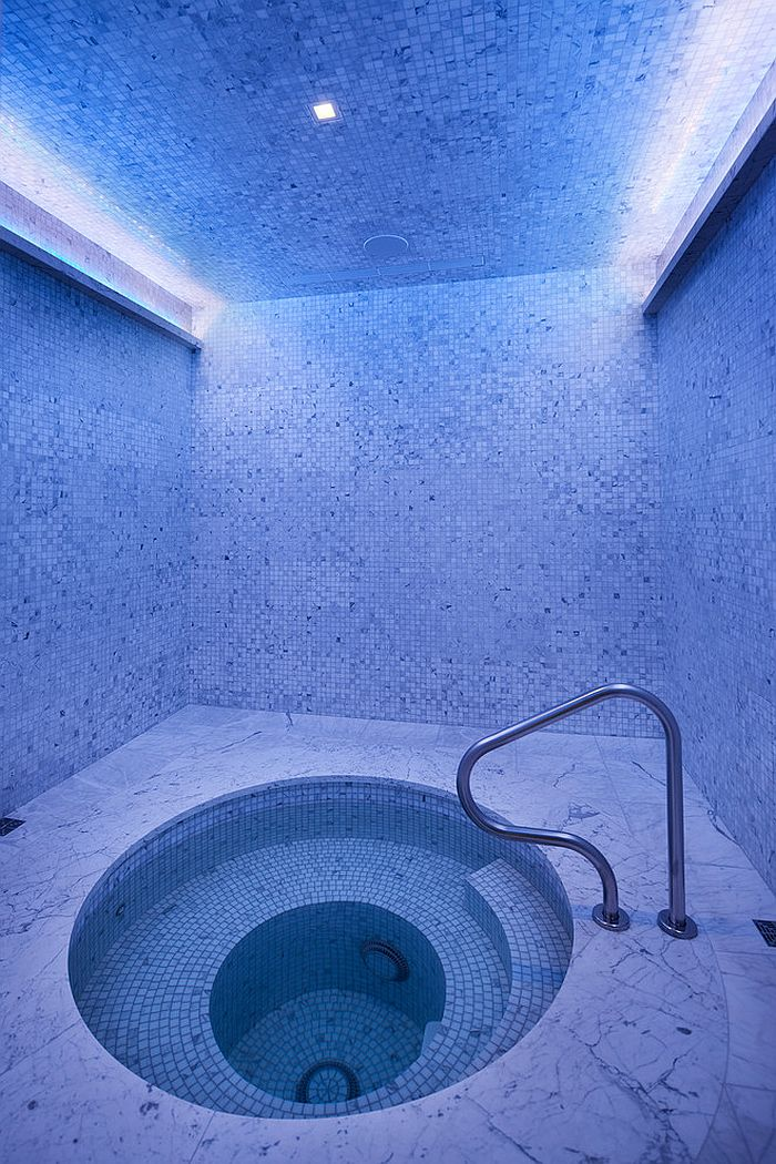 Pamper your sense with an indoor Jacuzzi